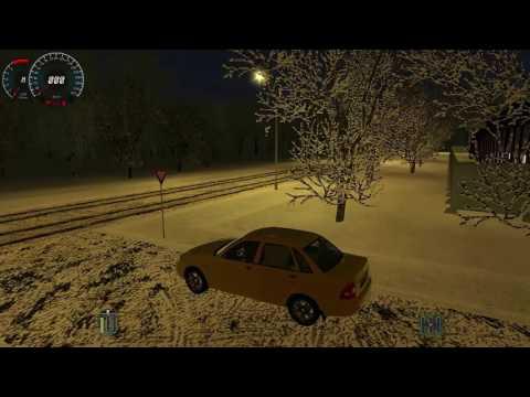 Обзор Симулятора Вождения Авто 3DИнструктор Зима + 100 Новых Машин [© Lets play на Симуляторы]