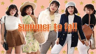 Summer To Fall Transition Outfits 2017