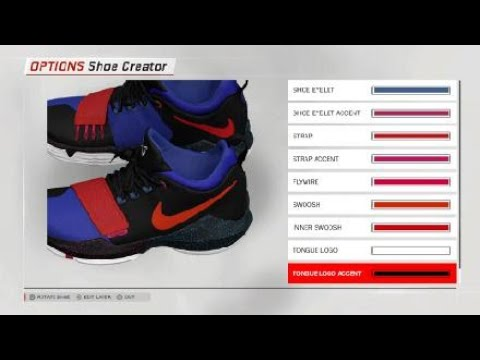 How to make PG2 PlayStation Shoes on NBA2K18