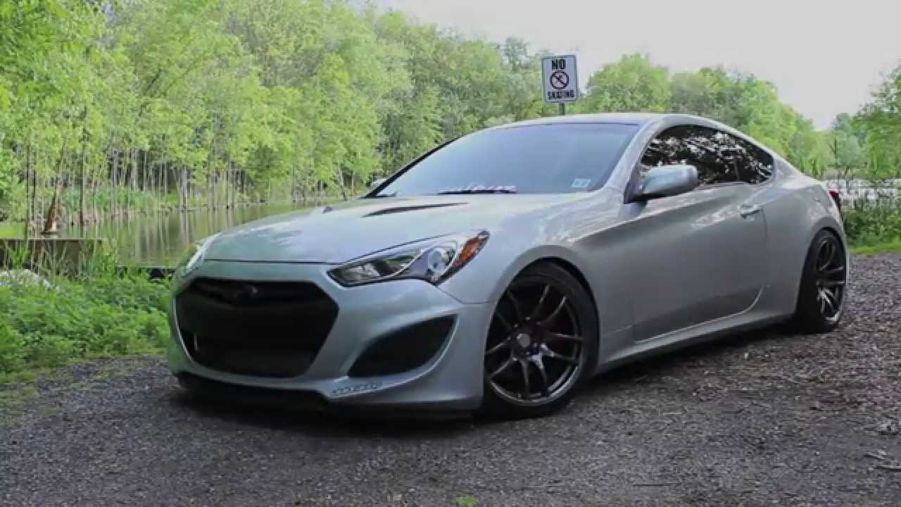 Genesis Coupe Silver And Stanced Youtube