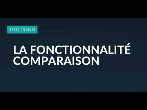 Geotrend - Fonctionnalité comparaison