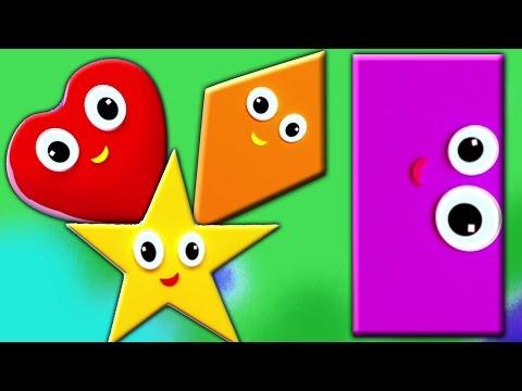 子供のための形状の歌| 異なる形状を学びます| 教育ビデオ| Shapes Song | Learn Shapes | Geometric figures for kids