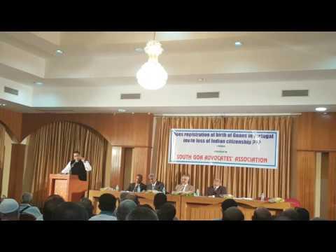 Advocate rajeev gomes speaking on Portuguese citizenship dual citizenship goans