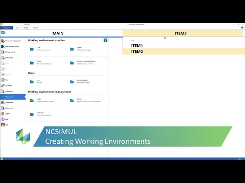 Creating Working Environments in NCSIMUL | Tutorial