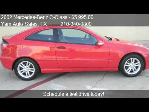 2002 mercedes benz c class c230 coupe for sale in san anto youtube. Black Bedroom Furniture Sets. Home Design Ideas