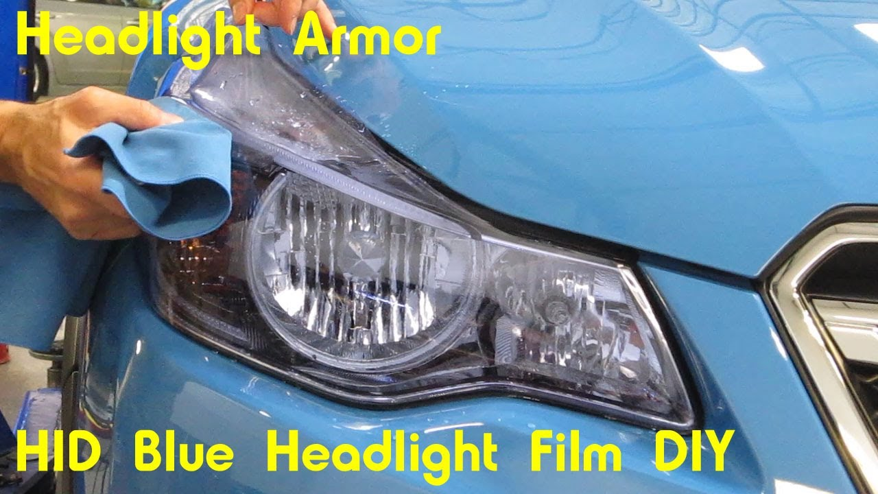 Hid Blue Headlight Protection Tint Film Kit Diy Subaru