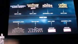 FULL Marvel Phase 3 announcement with clips part 2