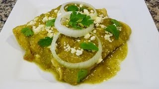 How to Green Enchiladas Mexican Recipe, Easy!