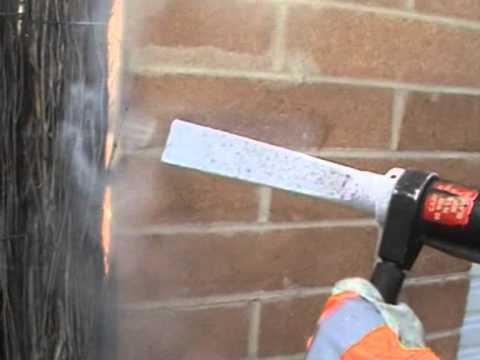 Dry Ice Cleaning Removing 30yr Old Mortar From Brick