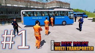 Jail Prisoner Police Bus Transport Plane gameplay walkthrough 1 android & ios