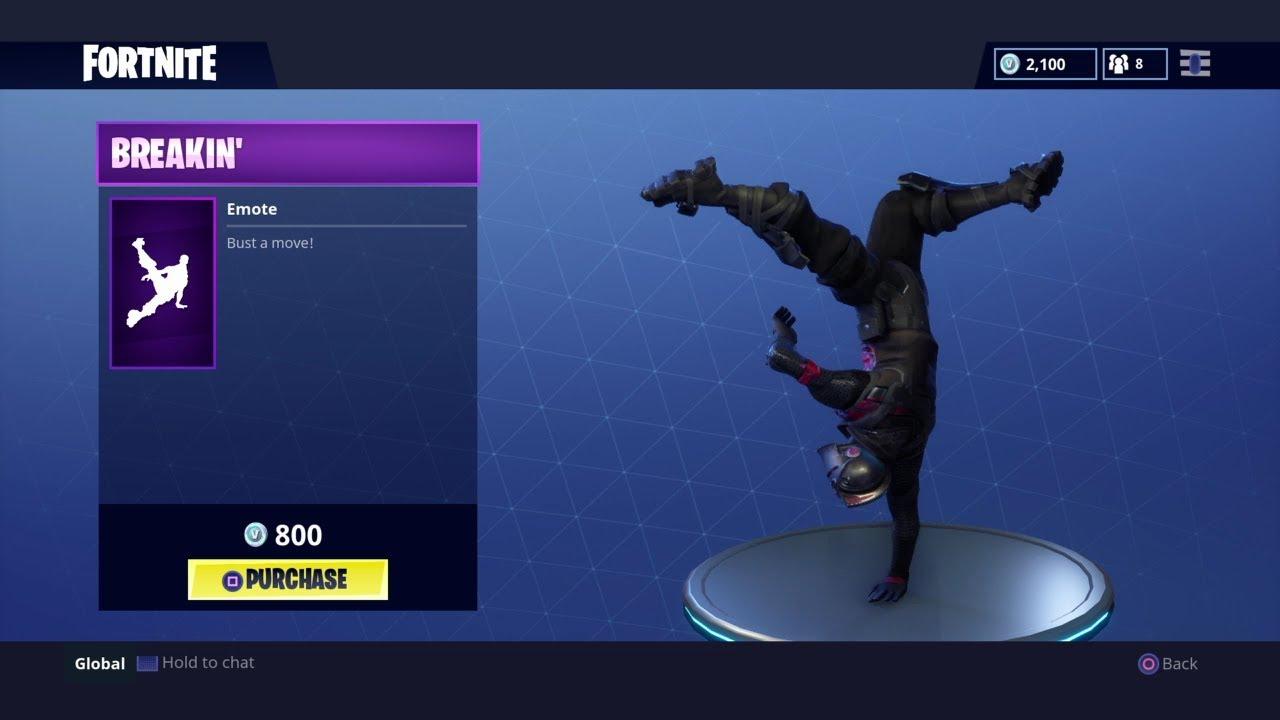 Breakin Fortnite Battle Royale Break Dance Emote Youtube