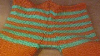 Машинное вязание: как вшить ластовицу в колготки
