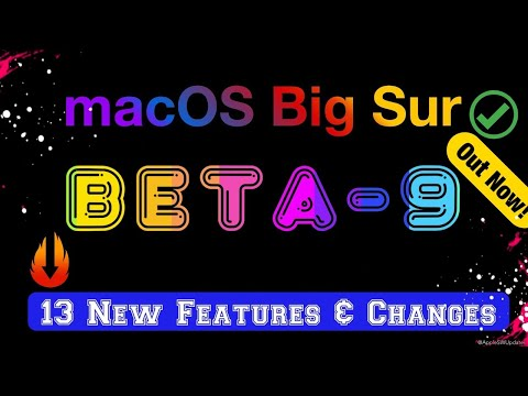 macOS Big Sur 11 beta 9 is Out! - What's New?
