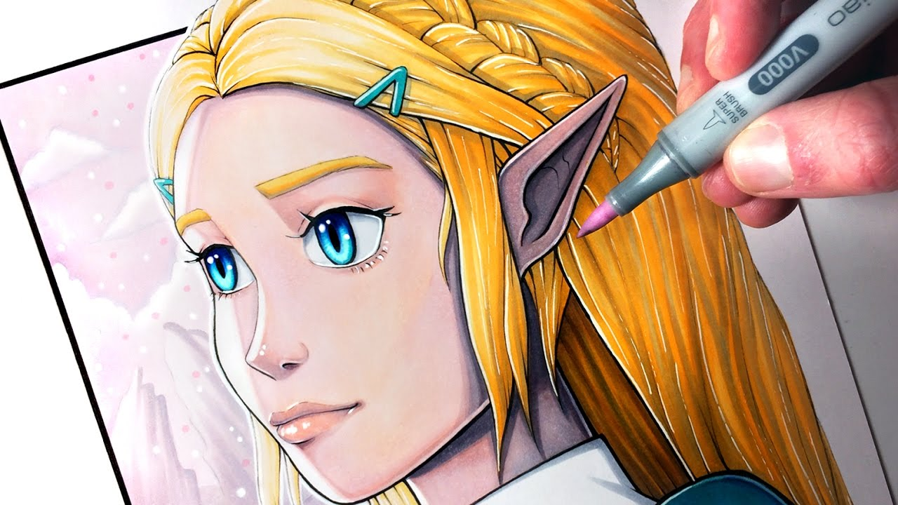 Let S Draw Princess Zelda From The Legend Of Zelda Breath Of The Wild Fan Art Friday