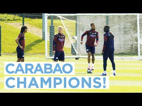 CARABAO CHAMPIONS PREPARE FOR PARIS! | FIRST TEAM TRAINING
