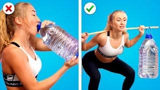 MAIGRIR À LA MAISON! 🍎 20 Astuces amusantes pour s'entraîner à la maison ! Astuces Fitness