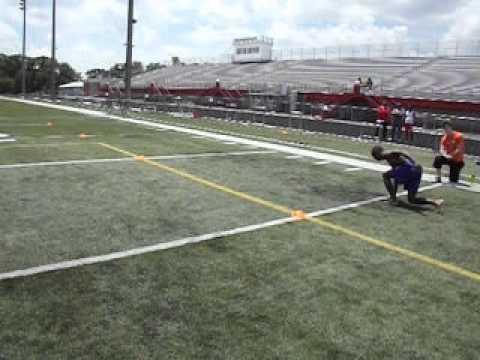 2013 Athletes Network Football Combine, Rodney Baggett, DB, Jr, George Rogers Clark High School