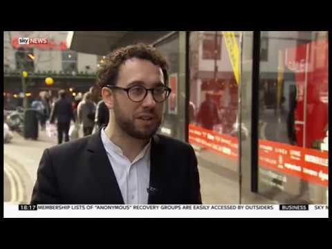 Andrew Teacher on Sky News discussing House of Fraser