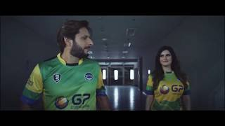 shahid afridi and zareen khan shine in the new ad for general petroleum pakhtoon team