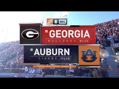 2019 #4 Georgia At #12 Auburn