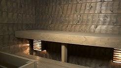 Saunan panelointi piiluhirsipaneelilla