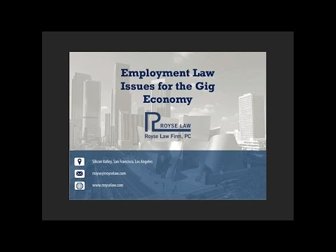 Employment Law Issues for Gig Economy Companies