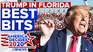 Highlights from Donald Trump's Florida campaign rally today | 9 News Australia