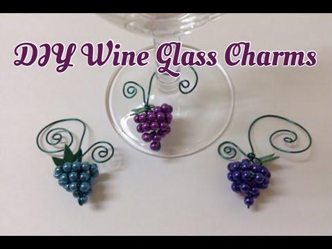 Beaded Wine Glass Charms Hostess Gifts Home Decor DIY Tutorial