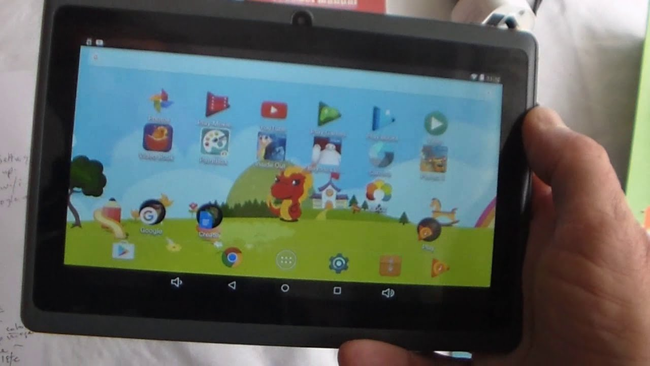 Unboxing The Dragon Touch Y88x Plus 7 Inch Kids Tablet 2017 Disney Edition Youtube