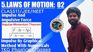 Impulse|Laws Of Motion Class 11|Impulse-Momentum Theorem| Measurement Of Impulse By Graphical Method