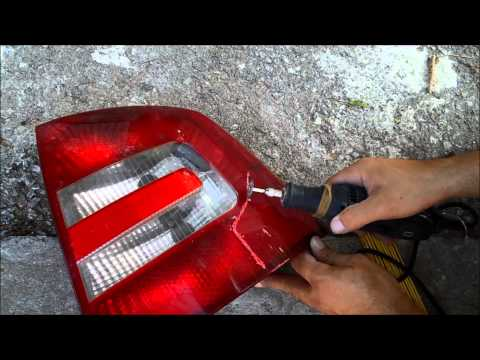 How to repair a damaged tail-light at no cost