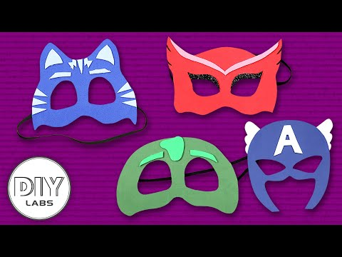4 Amazing PAPER MASK Crafts you can do with your kid | Fast-n-Easy | DIY Arts & Crafts for Kids