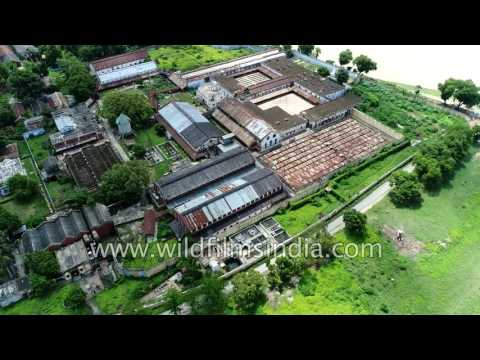 Ghazipur town in Uttar Pradesh: aerial journey over world's largest Opium factory