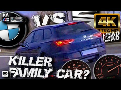 BMW M135i Vs Seat Leon ST FR 2.0 TSI +100-240 Autobahn Insta360 ONE X Waylens RaceRender [4k]