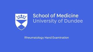 Rheumatology Hand Examination