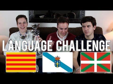 CATALÁN VS EUSKERA VS GALLEGO - Reto de Idiomas (español con subtítulos)
