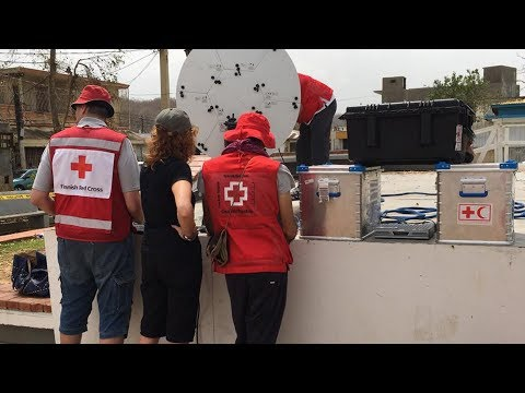 Reconnecting Families In Puerto Rico — Red Cross Delivers WIFI Alongside Aid