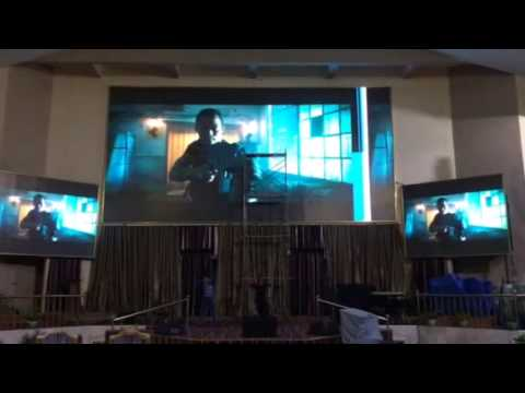 Ghana Led digital display screen panel for church service indoor Pastor Mensah Otabil of internatio
