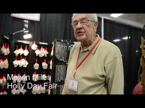 Melvin Miles selling Holiday moldings