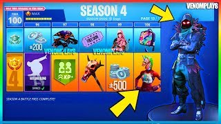 *NEW* Fortnite - SEASON 4 *LEAKED* BATTLE PASS THEME! (*ALIEN THEME* CONFIRMED!, and More!)