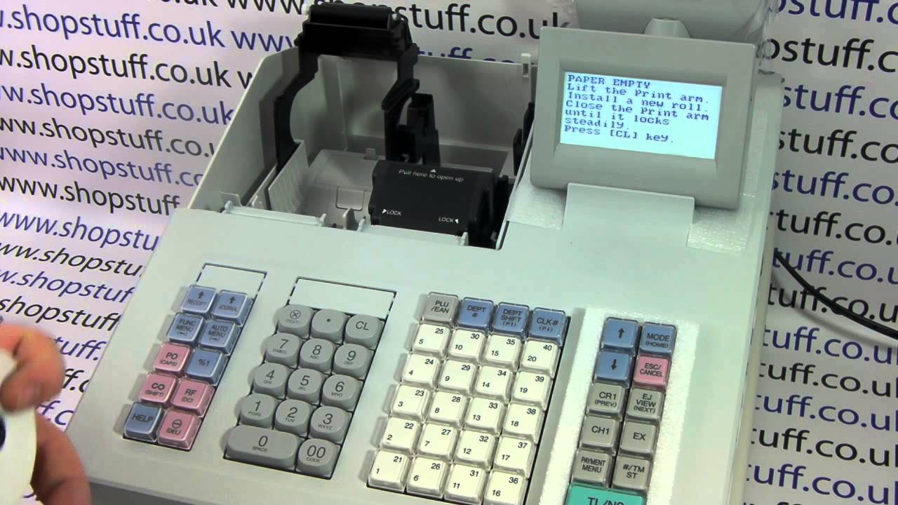 how to set the sharp xe a307 xe a407 cash register up out the box youtube. Black Bedroom Furniture Sets. Home Design Ideas