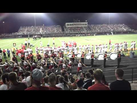 Fairfield High School Marching Band (Ohio) 3rd quarter drumline student rally 8.24.12
