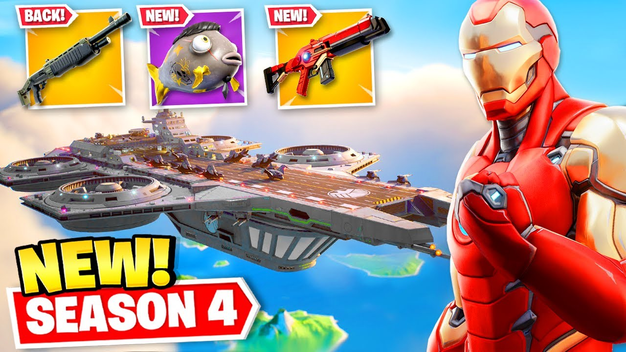 Download EVERYTHING *NEW* in Fortnite SEASON 4! (Map Changes, Weapons + MORE)