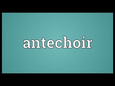 Header of antechoir