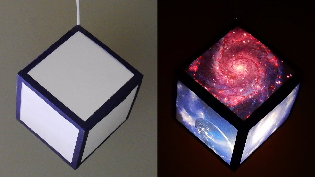 Diy pendant lamplantern galaxy cube home and room decor diy pendant lamplantern galaxy cube home and room decor ezycraft youtube mozeypictures Image collections