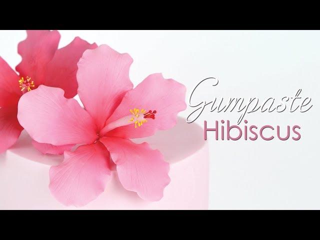 Gumpaste Hibiscus Flower Tutorial