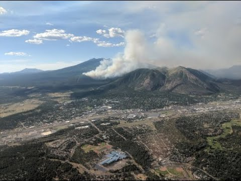 Coconino National Forest Official Talks  Flagstaff Area Where Museum Fire Burns