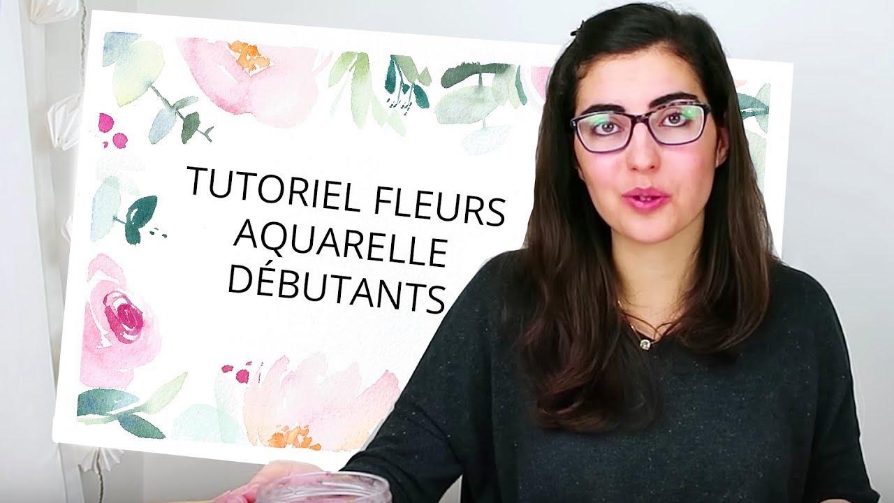 Tutoriel Fleurs A L Aquarelle Debutant Le Contour Youtube