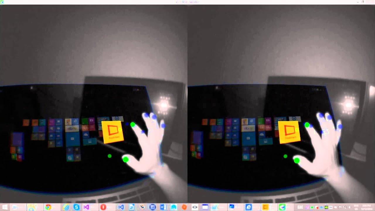 Doculus Vr Touchscreen Oculus Rift Leap Motion Virtual Windows 8 Desktop