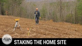 Off Grid Home Build (#5): Staking Our Off-Grid House